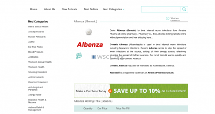 Albenza.org 100% Quality Guarantee