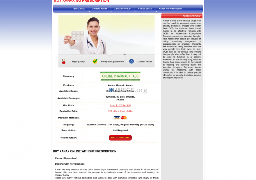 Bestxanaxcomparison.com Special Offer And Discounts