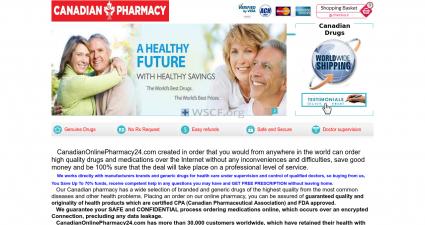 Canadianonlinepharmacy24.com Confidential Internet DrugStore.