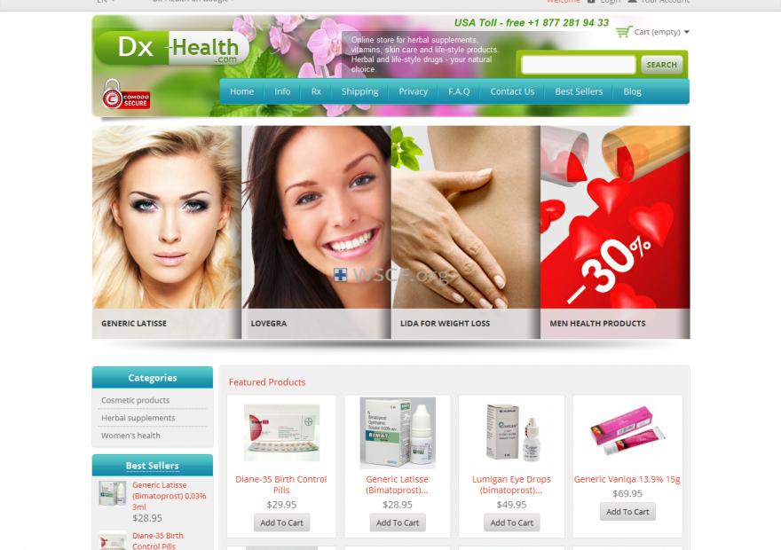 Dx-Health.com Overseas Discount Drugstore