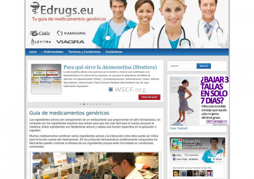 Edrugs.eu Website Pharmaceutical Shop