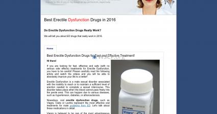 Erectiledysfunctiondrugs.com Web's Pharmacy