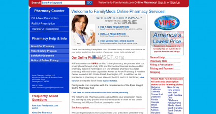 Familymeds.com Great Web Pharmacy