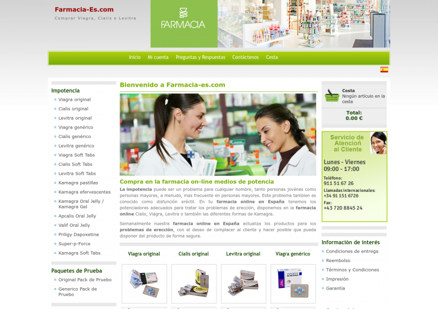 Farmacia-Es.net 24/7 Online Support
