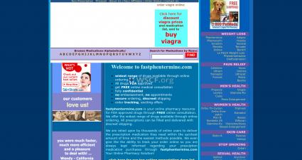 Fastphentermine.com Online Offshore Drugstore
