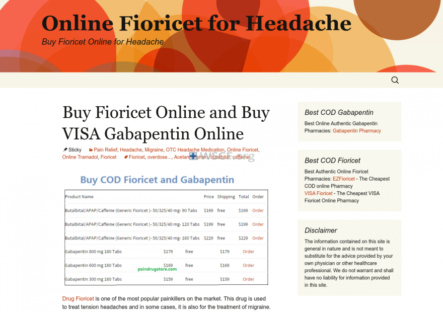 Fioricetdiscount.com All time On-line Support