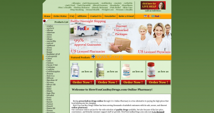 Hereyoucanbuydrugs.com Buy prescription medicines online