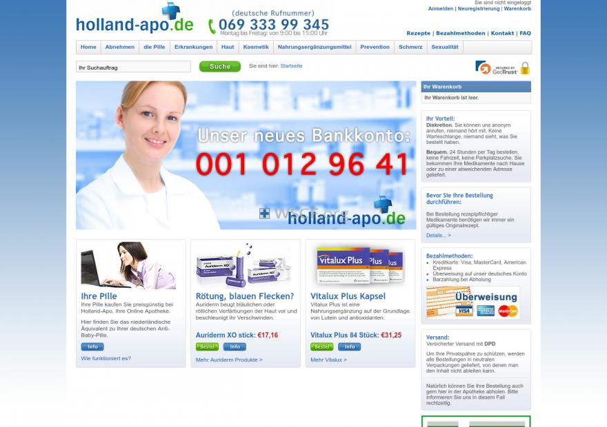 Holland-Apo.de No Doctor Visits