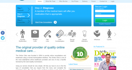 Theonlineclinic.co.uk Great Internet Pharmacy
