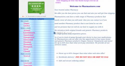 Ukpharmastores.com The Internet Canadian Drugstore