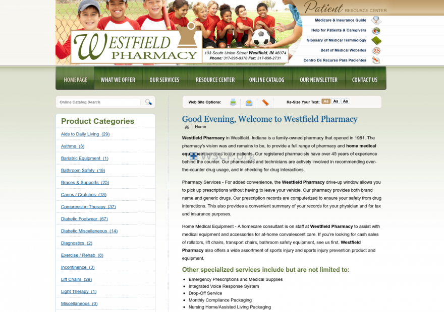 Westfieldpharmacy.net Great Web Pharmacy