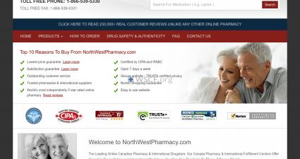 Westpharmacynorth.com Confidential Internet DrugStore.