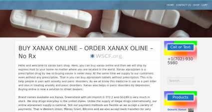 Whitexanaxbars.com All time On-line Support