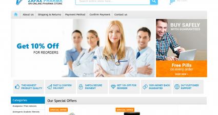 Zafaxpharma.com Great Web Drugstore