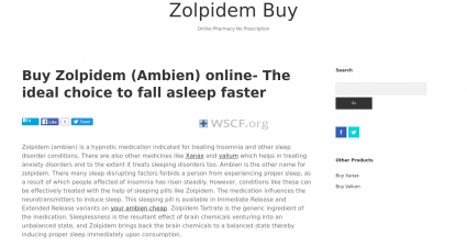 Zolpidembuy.com Overseas Internet Pharmacy
