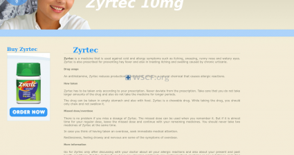 Zyrtec10Mg.com All time On-line Support